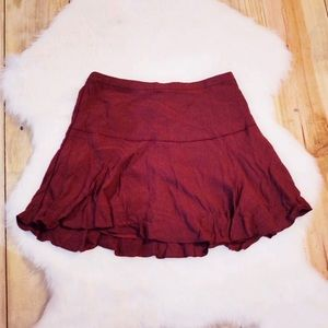 Aritzia Sunday Best Maroon Skirt Size 00
